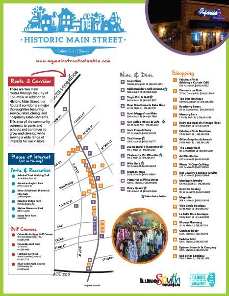 Historic Main St. Map ILSOUTH