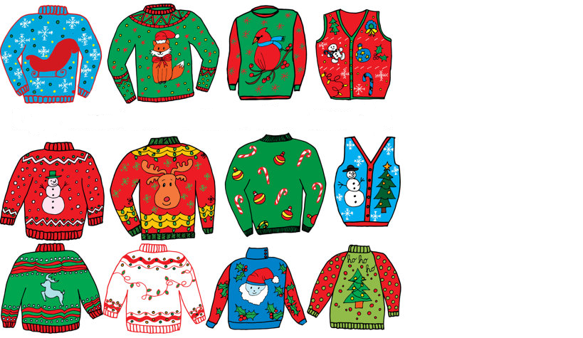 ugly sweater contests graphic